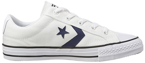 Adulte Converse Ox Mixte Navy Baskets Player EU White Black Star 40 PxrPX