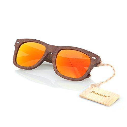 Walnut Polarized Sunglasses Natural Floating product image