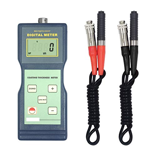 (GAO-CTG-106 Coating Thickness Gauge with High Accuracy,F Magnetic Induction & NF Type Eddy Current Principle, 0~1000µm/0~40mil Range,0.1µm/1µm Resolution,0.3mm Min.Sample Thickness.)