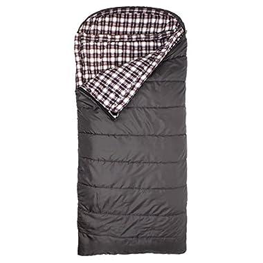 TETON Sports Fahrenheit XXL +20F Sleeping Bag; 20 Degree Sleeping Bag Great for Camping; Grey, Left Zip