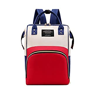 Aqua Rainbow Durable Multi-Function Waterproof with Large Capacity Maternity Diaper Travel Bag for Baby Care with Smart Design & Wide Pockets | Red - Blue