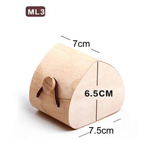 Environmental Protection Light Veneer Wood Soft Bark Box