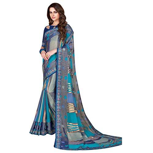 Designer Blusa Wedding ETHNIC Ethnic da Printed Indian Saree Sari Traditional ragazza for EMPORIUM Gerogette Light Casual Dress Designer 2694 Women Ladies wvxBvqrI