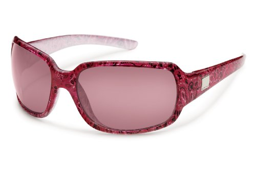 Suncloud Cookie Polarized Sunglasses, Paisley Frame, Rose Lens