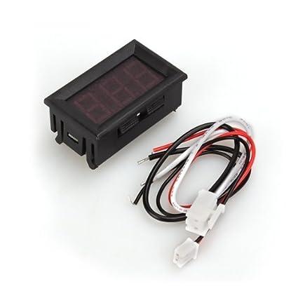 Auto Car Reloj Despertador LCD Voltaje Voltímetro Digital Con Termómetro Tipo7