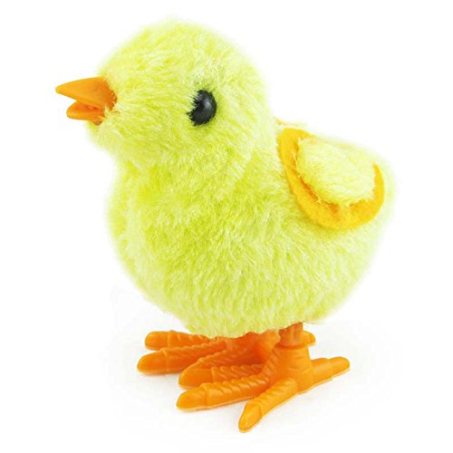 Maonet Wind Up Chick, Kids Clockwork Wind Up Hopping Toy Cute Chick Christmas Stocking Filler Animal Toys (Yellow)