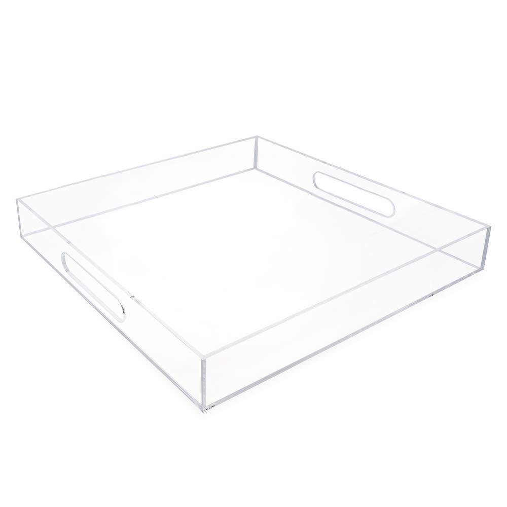 Isaac Jacobs Acrylic Tray (15x15, Clear)