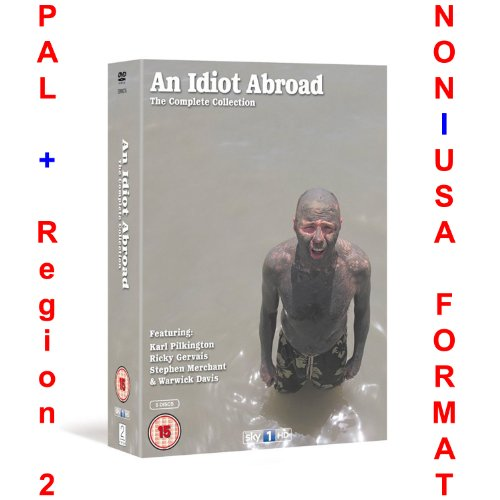 An Idiot Abroad - Complete Series 1-3 Collection (Uncut British Release) [NON-U.S.A. FORMAT: PAL + REGION 2 + U.K. IMPORT] (Season 1 + 2 + 3)