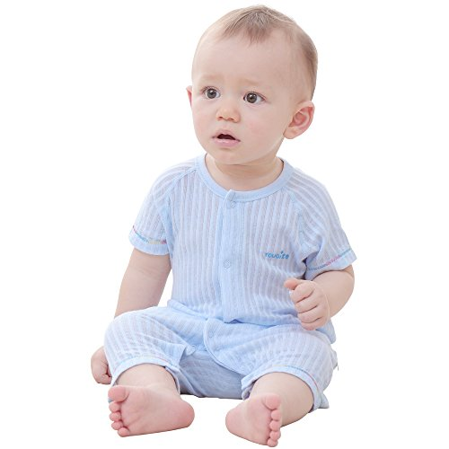 Onesies Soft Cotton Romper Creeper for Easy Diaper Changes Snap up Romper MuYwa Baby Boys and Baby Girls Romper Pajamas