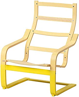Amazon.com: IKEA.. 803.833.30 Poäng Armchair Frame, Yellow ...
