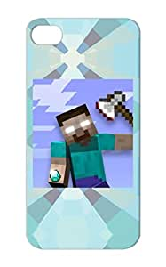 Herobrine Fan Club Facebook Logo YouTube Geek Gaming Navy Case Cover For Iphone 5 Official