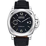 Parnis 44mm Black Sandwich Dial Luminous Sapphire Glass Japan Golden Miyota Automatic Movement Men's Watch