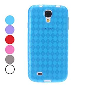 Grid Pattern TPU Soft Case for Samsung Galaxy S4 I9500 (Assorted Colors) --- COLOR:Red