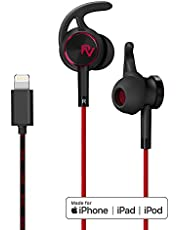 PALOVUE Lightning Headphones Magnetic Earbuds for Sports Workout MFi Certified Earphones with Mic Controller Noise Cancelling Compatible iPhone X/XR/XS/XS Max/iPhone 8/P iPhone 7/P NeoFlow (Black)