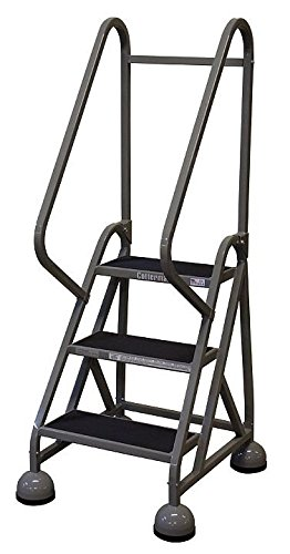 UPC 094714713707, Cotterman - ST-321 A2 C1 P5 - 3-Step Rolling Ladder, Rubber Mat Step Tread, 57 Overall Height, 450 lb. Load Capacity