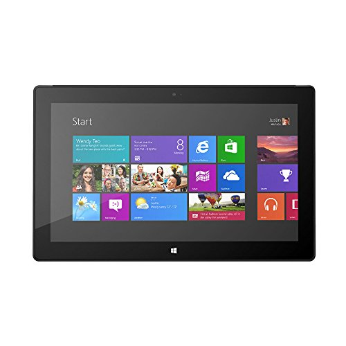 Microsoft Surface Pro 1 Tablet 128 GB Dual-Core i5 Touch Cover Bundle, Black (Renewed)
