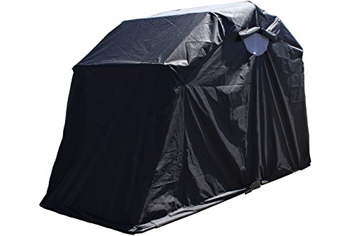 G3Elite Retractable Motorcycle Cover Waterproof Outdoor Garage Storage Shelter Tent Drive In Enclosure, for Bobber Style Sport Bike, Cycle, Bicycle or Moped