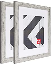 MarkGifts 11x14 White Picture Frame - Made to Display Pictures 8x10 with Mat or 11x14 Without Mat - Wide Molding
