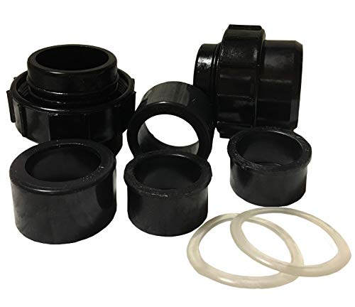 Waterway Plastics Swimming Pool Cartridge or DE Filter Adapter Fitting Package 550-4280