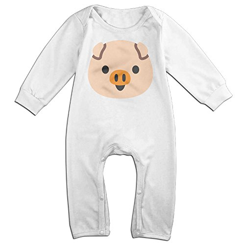 VanillaBubble Cute Pig Face For 6-24 Months Baby Best Baby Climbing Clothes White Size 24 Months (2)