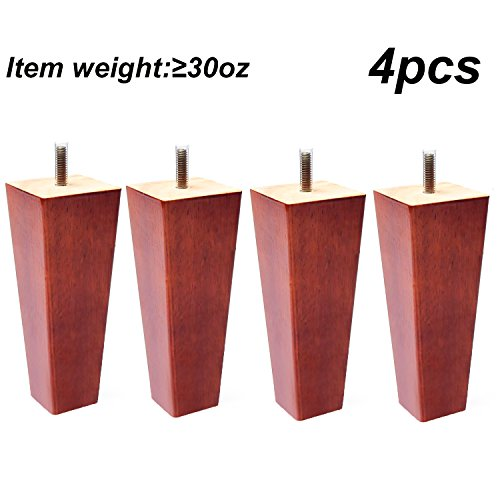 Sofa Legs Set of 4,Tapered 5 Inch Solid Wood Furniture Sofa/Chair/Couch/Loveseat Replacement legs by Sweet Melodi (Image #4)
