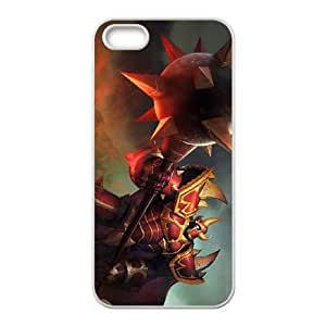 iPhone 5 5s Cell Phone Case White League of Legends Dragon Knight Mordekaiser SH3984810