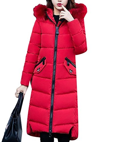 Slim Down Basic Red Hooded Longline Fit Cotton Decorated Zipper Againg Womens wzITYT