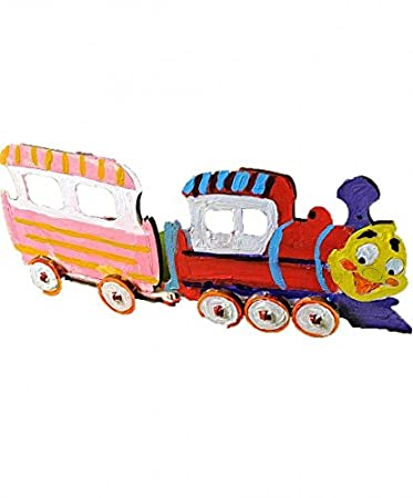 Buy Ugears Locomotive 3d Wooden Jigsaw Puzzle Games Kids Coloring Kit Steam Learning Brain Games Toys Locomotive Puzzles For Kids Online At Low Prices In India Amazon In