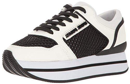 Scarpe Donna ARMANI 925187 7P578 Sneakers Primavera Estate 2017 Bianco nero 40