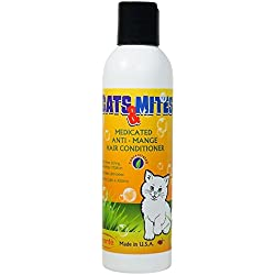 Cats Medicated Demodex Mite Hair Conditioner for Treatment Demodectic Mange in Cats