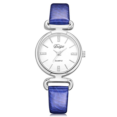 BEUU 2018 Ladies Watch New Wholesale Price Fashion Women Chic Artificial Diamond Flower Rounded Analog Pointer Waterproof Bracelet Dial Dress Military Led Wristwatches Classics Gifts (Purple)