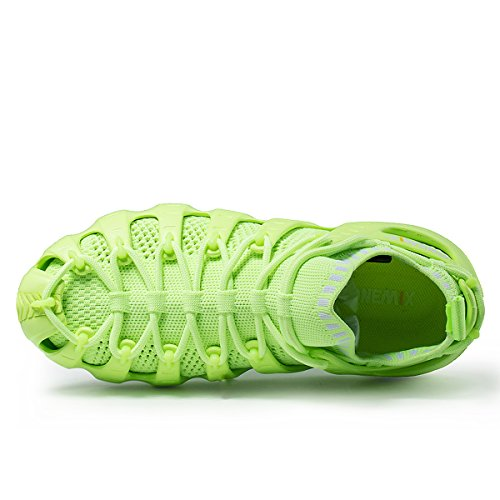 ONEMIX Herren Damen Sneakers leichte atmungsaktive Outdoor Wanderschuhe sockenähnliche Turnschuhe Grün