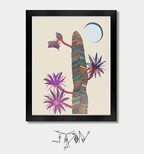 Eclipse. Arizona, Tucson, Southwestern, Phoenix, Cactus Art, Cactus Artwork, Moon, Sun, Cactus, Solar, Solar Eclipse, Cacti by Jason Smith Art