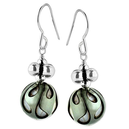 Earrings Honora Pearl (Carved Black Pearl Earrings)