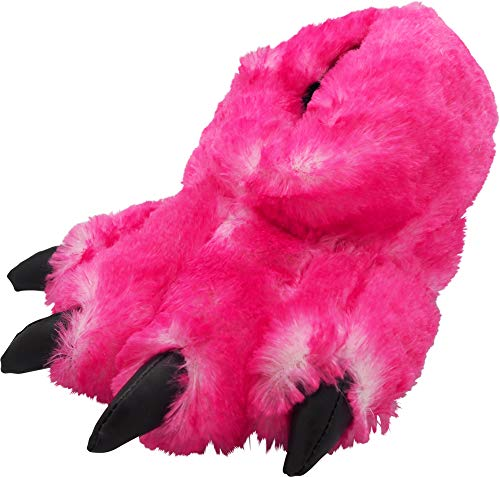 (NORTY - Womens Big Foot Tip Claw Slippers, Magenta 40295-Large)