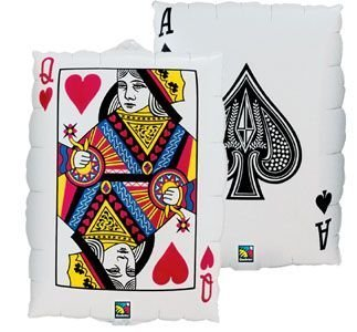 80cm Playing Cards Shape Balloon (Casino, Poker, Gambling) by Qualatex   B01522UHJO