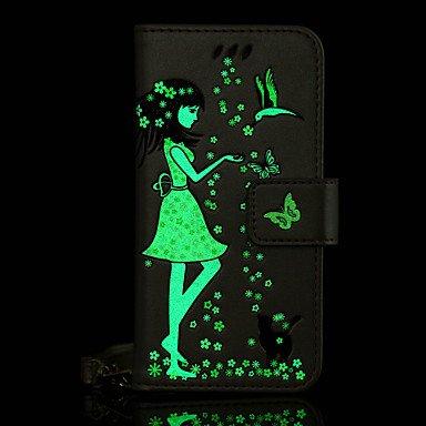 Casos hermosos, cubiertas, Para la galaxia samsung a5 (2017) a3 (2017) caja del teléfono caja de cuero de la PU material de la mujer y del gato caja luminosa del ( Color : Púrpula , Modelos Compatible Oro