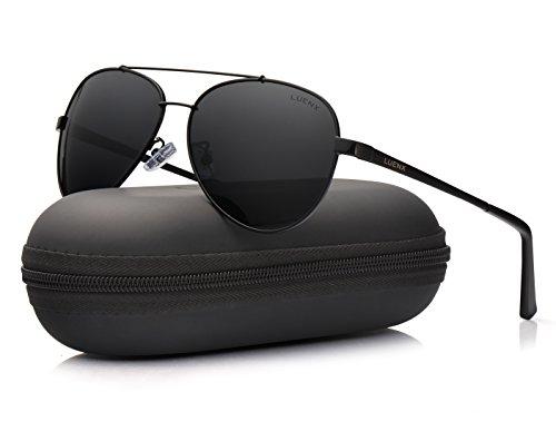 Protection Lunettes 60mm LUENX 400 Homme de Noir UV Soleil YHaqz