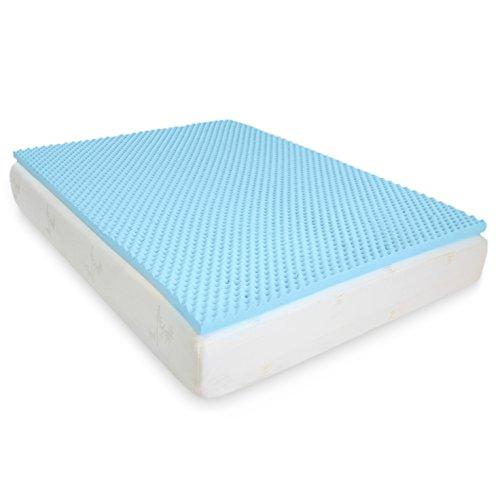 Milliard 2in Egg Crate Gel Memory Foam Mattress Topper