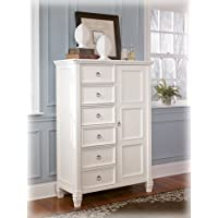 Cottage Style White Prentice Bedroom door Chest