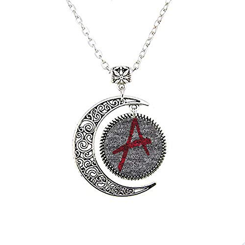 Pretty little liars logo Copper Chain Women Choker Statement 1 The Moon Necklace]()