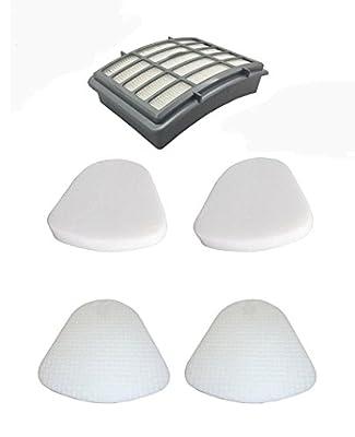 1 Hepa Filter + 2 Pack Pre-filter Foam & Felt for Shark XFF350 XHF350 Navigator Lift-Away NV350, NV351, NV352, NV355, NV356, NV356E, NV357, NV360, NV370, UV440, UV540