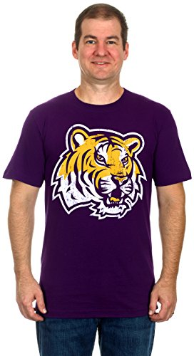 LSU Tiger Logo Men's Short Sleeve T-Shirt (X-Large)