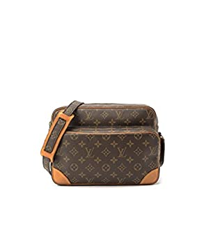 Authentic Women s Vintage Louis Vuitton Nil Brown Monogram Shoulder Bag   Amazon.co.uk  Luggage 89fad32f5a