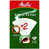 Melitta 622712 100-Pack #2 White Cone Coffee Filters
