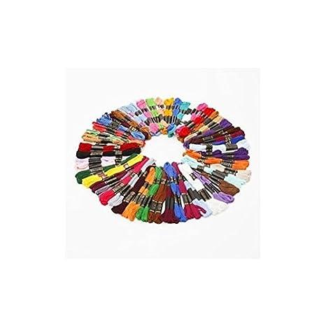 50 Döckchen Stickgarn Sticktwist farblich sortiert 8m 6-fädig Multicolor