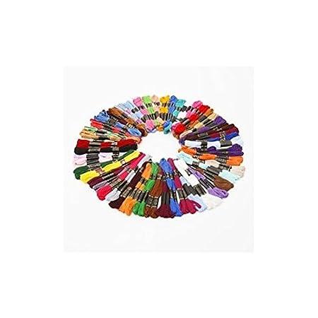 50 unidades madejas de hilos de diferentes colores  100/% algodón