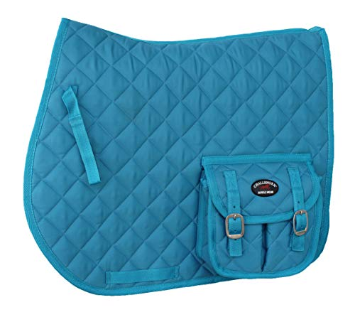 Horse Quilted English Saddle PAD Trail Aussie Australian Dressage Pockets 7281