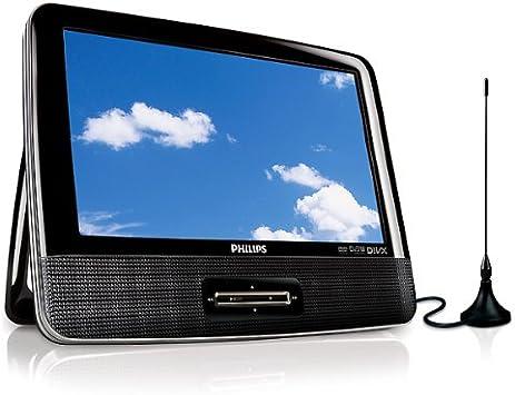 Philips PD9003/12 DVD portátil y televisor digital con LCD de 23 cm (9
