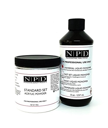 NPD Standard Set Acrylic Powder & Liquid Monomer 8 oz - White by NPD